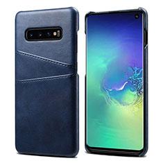 Handyhülle Hülle Luxus Leder Schutzhülle S03 für Samsung Galaxy S10 Blau