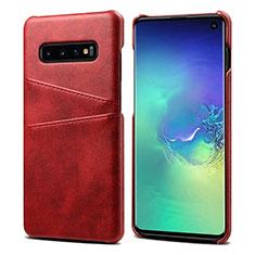 Handyhülle Hülle Luxus Leder Schutzhülle S03 für Samsung Galaxy S10 Rot