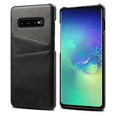 Handyhülle Hülle Luxus Leder Schutzhülle S03 für Samsung Galaxy S10 Schwarz