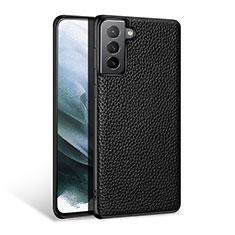 Handyhülle Hülle Luxus Leder Schutzhülle S03 für Samsung Galaxy S21 5G Schwarz