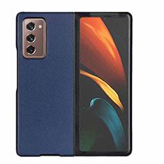 Handyhülle Hülle Luxus Leder Schutzhülle S03 für Samsung Galaxy Z Fold2 5G Blau
