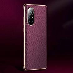 Handyhülle Hülle Luxus Leder Schutzhülle S05 für Huawei Nova 8 Pro 5G Violett