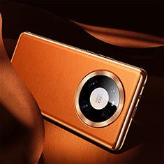 Handyhülle Hülle Luxus Leder Schutzhülle S08 für Huawei Mate 40 Orange