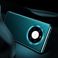 Handyhülle Hülle Luxus Leder Schutzhülle S08 für Huawei Mate 40 Pro+ Plus Cyan