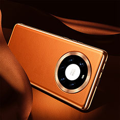 Handyhülle Hülle Luxus Leder Schutzhülle S08 für Huawei Mate 40 Pro+ Plus Orange