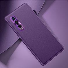 Handyhülle Hülle Luxus Leder Schutzhülle U01 für Oppo Find X2 Pro Violett