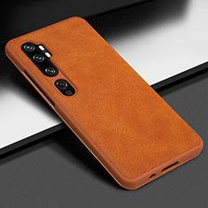 Handyhülle Hülle Luxus Leder Schutzhülle Z01 für Xiaomi Mi Note 10 Pro Orange