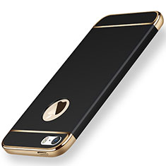Handyhülle Hülle Luxus Metall Rahmen und Kunststoff für Apple iPhone 5 Schwarz