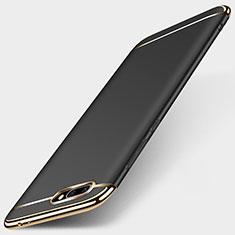 Handyhülle Hülle Luxus Metall Rahmen und Kunststoff für Huawei Honor 10 Schwarz