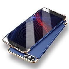 Handyhülle Hülle Luxus Metall Rahmen und Kunststoff für Huawei Honor 7X Blau