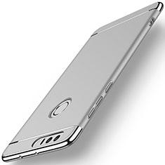 Handyhülle Hülle Luxus Metall Rahmen und Kunststoff für Huawei Honor 8 Silber