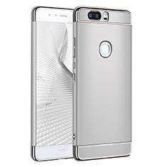 Handyhülle Hülle Luxus Metall Rahmen und Kunststoff für Huawei Honor V8 Silber