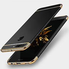 Handyhülle Hülle Luxus Metall Rahmen und Kunststoff für Huawei Honor V9 Schwarz