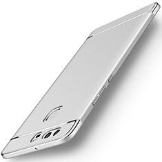 Handyhülle Hülle Luxus Metall Rahmen und Kunststoff für Huawei P9 Silber