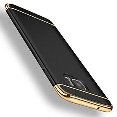 Handyhülle Hülle Luxus Metall Rahmen und Kunststoff für Samsung Galaxy S7 Edge G935F Schwarz