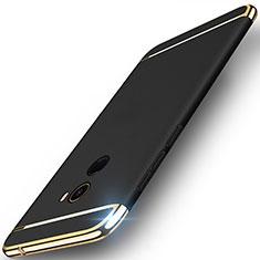 Handyhülle Hülle Luxus Metall Rahmen und Kunststoff für Xiaomi Mi Mix 2 Schwarz