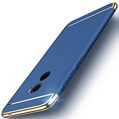 Handyhülle Hülle Luxus Metall Rahmen und Kunststoff für Xiaomi Mi Mix Evo Blau