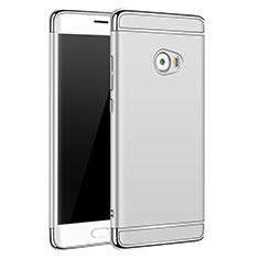 Handyhülle Hülle Luxus Metall Rahmen und Kunststoff für Xiaomi Mi Note 2 Special Edition Silber