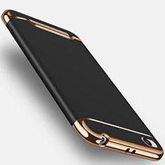 Handyhülle Hülle Luxus Metall Rahmen und Kunststoff für Xiaomi Redmi 4A Schwarz