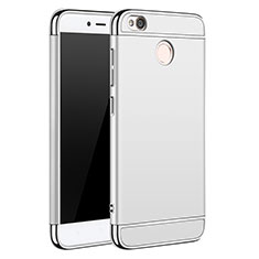 Handyhülle Hülle Luxus Metall Rahmen und Kunststoff für Xiaomi Redmi 4X Silber