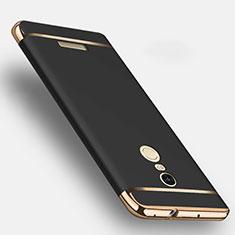 Handyhülle Hülle Luxus Metall Rahmen und Kunststoff für Xiaomi Redmi Note 3 MediaTek Schwarz