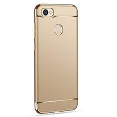 Handyhülle Hülle Luxus Metall Rahmen und Kunststoff für Xiaomi Redmi Y1 Gold