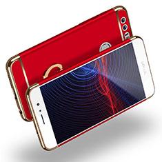 Handyhülle Hülle Luxus Metall Rahmen und Kunststoff mit Fingerring Ständer für Huawei Honor 8 Rot