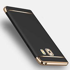 Handyhülle Hülle Luxus Metall Rahmen und Kunststoff mit Fingerring Ständer für Samsung Galaxy C9 Pro C9000 Schwarz