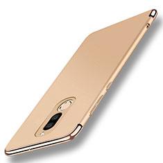 Handyhülle Hülle Luxus Metall Rahmen und Kunststoff Schutzhülle Tasche mit Fingerring Ständer A01 für Huawei G10 Gold