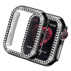 Handyhülle Hülle Luxus Strass Diamant Schutzhülle für Apple iWatch 5 40mm Schwarz