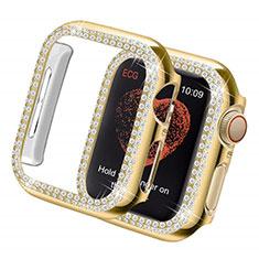 Handyhülle Hülle Luxus Strass Diamant Schutzhülle für Apple iWatch 5 44mm Gold