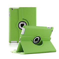 Handyhülle Hülle Rotierende Tasche Leder für Apple iPad 2 Grün
