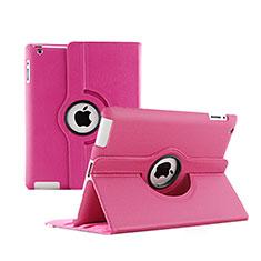 Handyhülle Hülle Rotierende Tasche Leder für Apple iPad 2 Pink