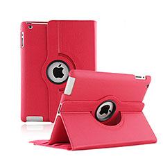 Handyhülle Hülle Rotierende Tasche Leder für Apple iPad 2 Rot