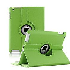 Handyhülle Hülle Rotierende Tasche Leder für Apple iPad 3 Grün