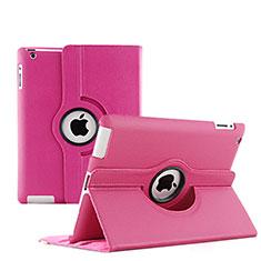 Handyhülle Hülle Rotierende Tasche Leder für Apple iPad 3 Pink