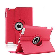 Handyhülle Hülle Rotierende Tasche Leder für Apple iPad 4 Rot