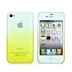 Handyhülle Hülle Schutzhülle Durchsichtig Farbverlauf für Apple iPhone 4S Gelb
