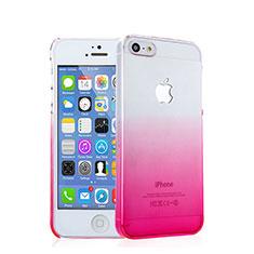Handyhülle Hülle Schutzhülle Durchsichtig Farbverlauf für Apple iPhone 5 Rosa