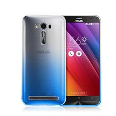 Handyhülle Hülle Schutzhülle Durchsichtig Farbverlauf für Asus Zenfone 2 Laser ZE500KL ZE550KL Blau