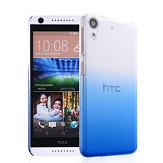 Handyhülle Hülle Schutzhülle Durchsichtig Farbverlauf für HTC Desire 626 Blau