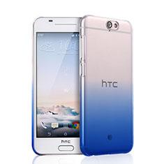Handyhülle Hülle Schutzhülle Durchsichtig Farbverlauf für HTC One A9 Schwarz