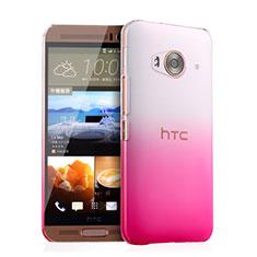 Handyhülle Hülle Schutzhülle Durchsichtig Farbverlauf für HTC One Me Rosa