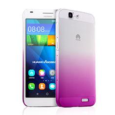 Handyhülle Hülle Schutzhülle Durchsichtig Farbverlauf für Huawei Ascend G7 Rosa