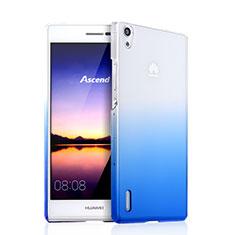 Handyhülle Hülle Schutzhülle Durchsichtig Farbverlauf für Huawei Ascend P7 Blau
