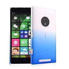 Handyhülle Hülle Schutzhülle Durchsichtig Farbverlauf für Nokia Lumia 830 Blau