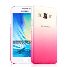 Handyhülle Hülle Schutzhülle Durchsichtig Farbverlauf für Samsung Galaxy A3 SM-300F Rosa