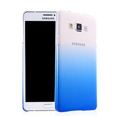 Handyhülle Hülle Schutzhülle Durchsichtig Farbverlauf für Samsung Galaxy A7 SM-A700 Blau