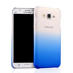 Handyhülle Hülle Schutzhülle Durchsichtig Farbverlauf für Samsung Galaxy J7 SM-J700F J700H Blau