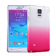 Handyhülle Hülle Schutzhülle Durchsichtig Farbverlauf für Samsung Galaxy Note 4 Duos N9100 Dual SIM Rosa